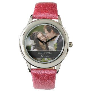 Custom Personalized Wedding Photo Keepsake Wrist Watch