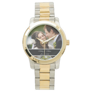 Custom Personalized Wedding Photo Keepsake Wristwatches