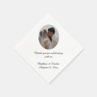 Custom Personalized Wedding Photo Napkins Paper Napkin