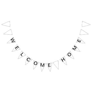 Custom Personalized Welcome Home Flag Bunting