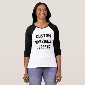 Custom Personalized Womens Raglan Baseball Jersey T-Shirt