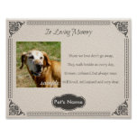 Custom Pet Memorial Poem - Poster