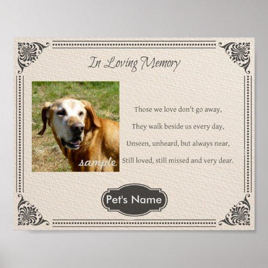 Custom Pet Memorial Poem - Poster