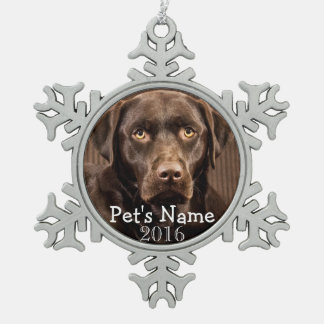 Custom Pet Photo Keepsake 2016 Holiday Ornaments