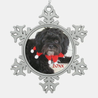 Custom Pet Photo Snowflake Christmas Ornament
