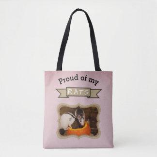 Custom Pet Rat Photo Tote Bag