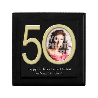 Custom Photo 50th Birthday Keepsake Trinket Box