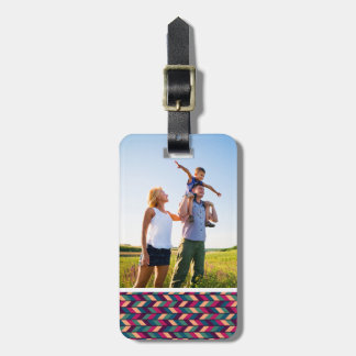 Custom Photo Abstract Colorful Industrial Luggage Tag