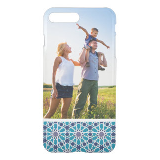 Custom Photo Abstract Pattern In Blue And Grey iPhone 8 Plus/7 Plus Case