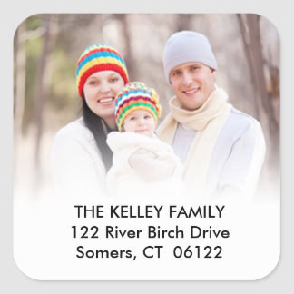 Custom Photo Address Label Square Sticker