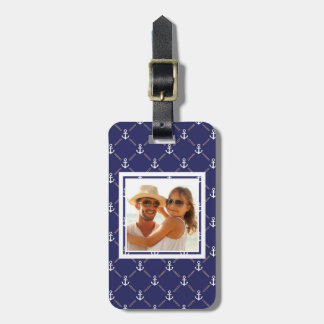 Custom Photo Anchor pattern Luggage Tag