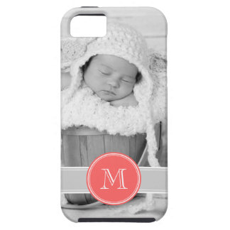 Custom Photo and Monogram Personalized Tough iPhone 5 Case