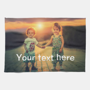 Custom Photo and Text Tea Towel