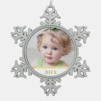 Custom Photo and Year Ornament