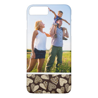 Custom Photo Animal skin with hearts iPhone 8 Plus/7 Plus Case