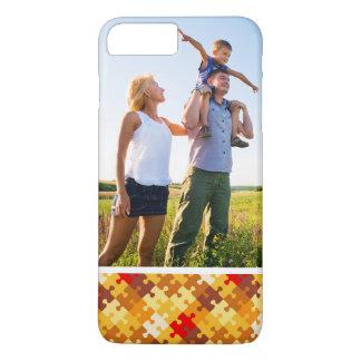 Custom Photo Autumn colors puzzle background iPhone 8 Plus/7 Plus Case