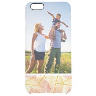 Custom Photo Autumn Leaves Clear iPhone 6 Plus Case