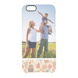 Custom Photo Autumn pattern. Owls in the forest Clear iPhone 6/6S Case