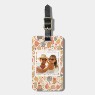 Custom Photo Autumn pattern. Owls in the forest Luggage Tag