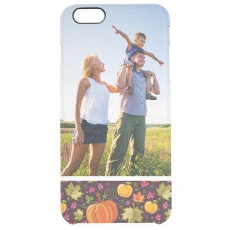 Custom Photo Autumnal background Clear iPhone 6 Plus Case