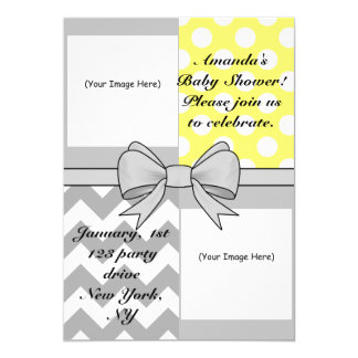 Custom Photo_Baby Shower Invitation Yellow