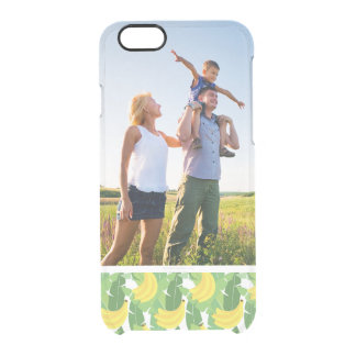 Custom Photo Banana Leaves And Fruit Pattern Clear iPhone 6/6S Case