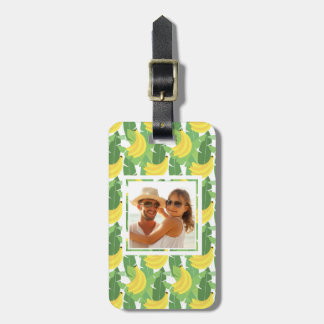 Custom Photo Banana Leaves And Fruit Pattern Luggage Tag