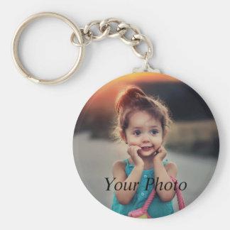 Custom Photo Basic Round Button Key Ring