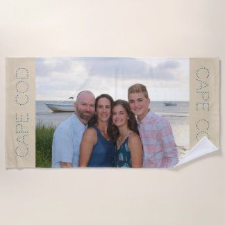 Custom photo beach towel - personalized gift