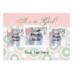 Custom Photo Birth Announcement Card, It's a Girl