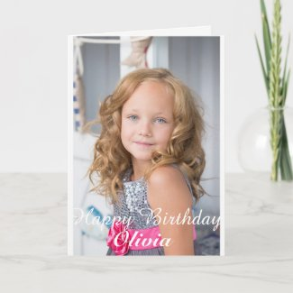 Custom Photo Birthday Card