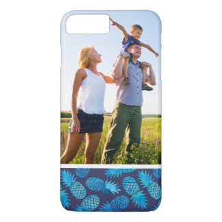 Custom Photo Blue Tie Dye Pineapples iPhone 8 Plus/7 Plus Case