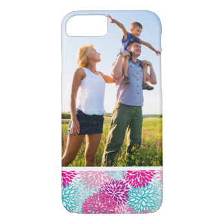 Custom Photo Bright Floral pattern 2 iPhone 8/7 Case