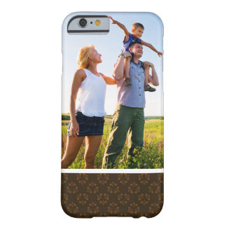 Custom Photo Brown abstract pattern Barely There iPhone 6 Case