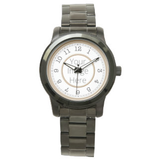 Custom Photo Brown Modern Minimalist Watch