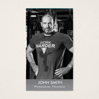 Custom Photo Business Card: Personal Trainer/Coach Business Card