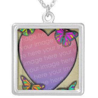 Custom photo charm necklace heart frame