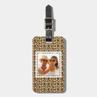 Custom Photo Cheetah skin pattern Luggage Tag