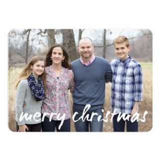 custom photo christmas card - 5x7 flat style