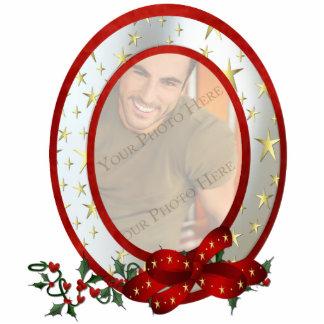 Custom Photo Christmas Ornament Oval Photo Sculpture Decoration