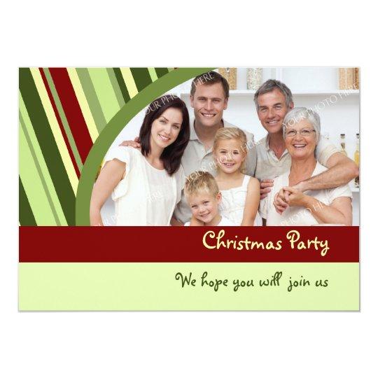 Custom Photo Christmas Party Invitation Card