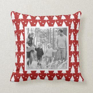 Custom Photo Christmas Trees Throw Pillow Gift