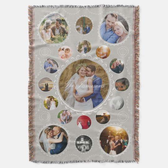 Custom Photo Circular Collage Create Your Own Throw