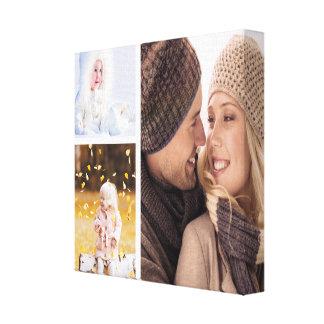 Custom Photo Collage Canvas - White Frame Canvas Print
