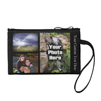 Custom Photo Collage Change Purses