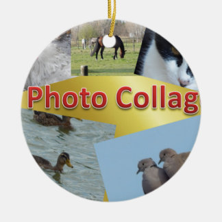 Custom Photo collage Christmas Ornament