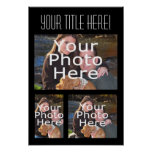 Custom Photo Collage Poster, Three Photos