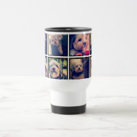 Custom Photo Collage with Square Photos 15 Oz Stainless Steel Travel Mug