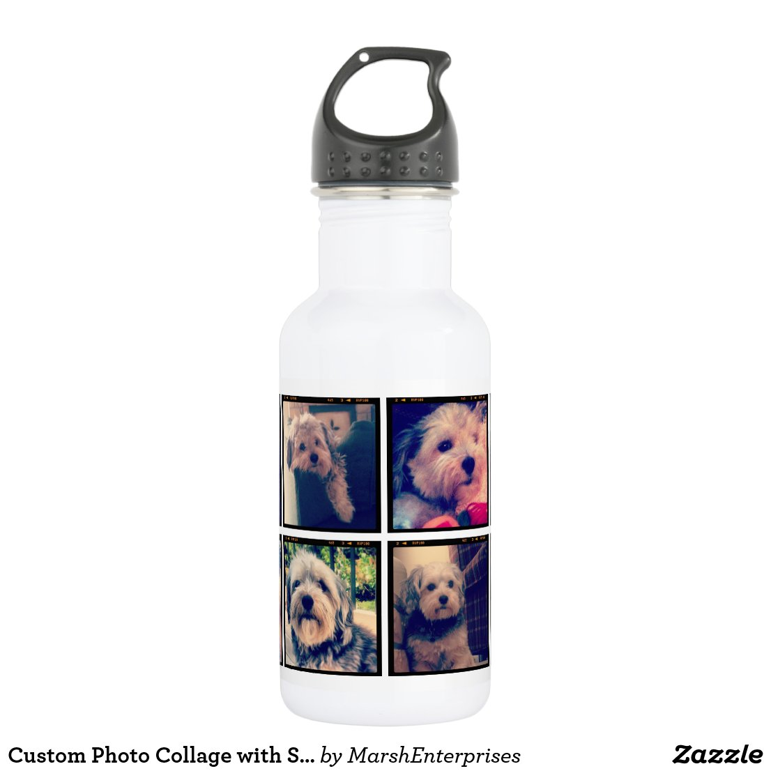 Photo Collage Water Bottle