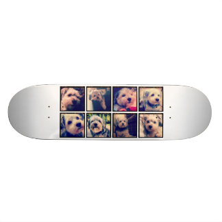 Custom Photo Collage with Square Photos Skate Board